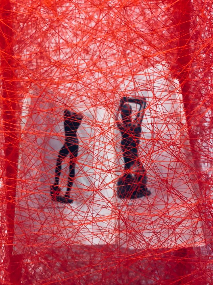 Chiharu Shiota - detail