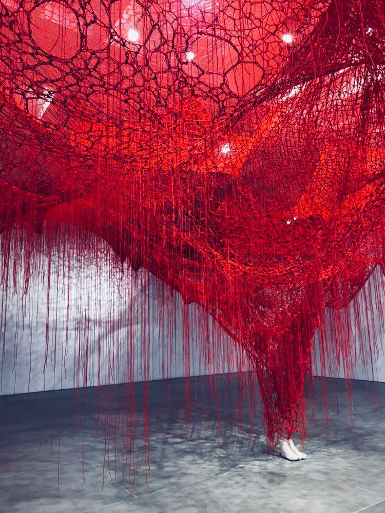 Chiharu Shiota exh view
