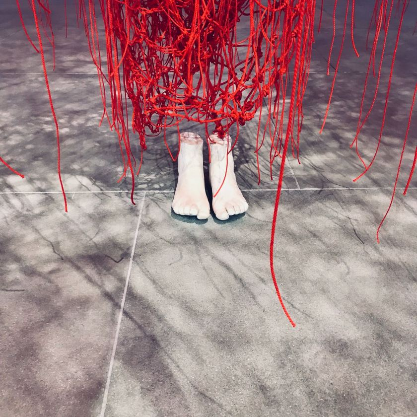 Chiharu Shiota - feet detail